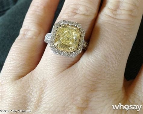 Kelly Clarkson Engagement Ring: Yellow! Massive!   The