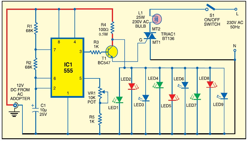 ELECTRONIC CIRCUIT FOR LED BULB - Circuit