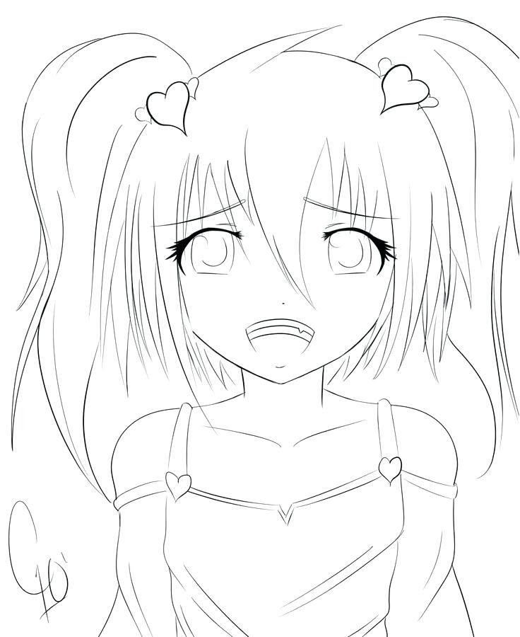 Draw Samples: Coloring Pages For Girls Anime Easy Drawing