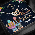 Best Friend - Every Brownie Needs A Blondie - Interlocked Hearts