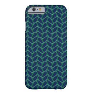 Blue Leaves on iPhone 6 Barely There Case Barely There iPhone 6 Case