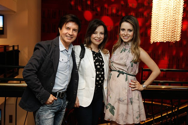 Xororó, Noely e Sandy (Foto: Amauri Nehm e Marcos Ribas/Photo Rio News)