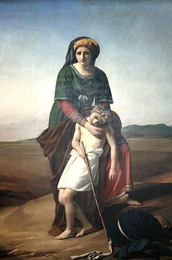 Français : Agar et Ismaël dans le désert (1820...