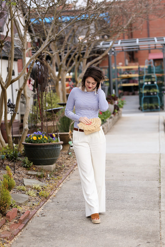 How to Wear White Trousers in the Spring - Polished Closets