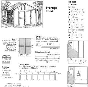 Free 10X10 Shed Plans Blueprints