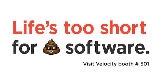 "New Relic on Twitter: ""Life's too short for 💩 software. Let's work together to get your job done. Join us @velocityconf Booth 501! """
