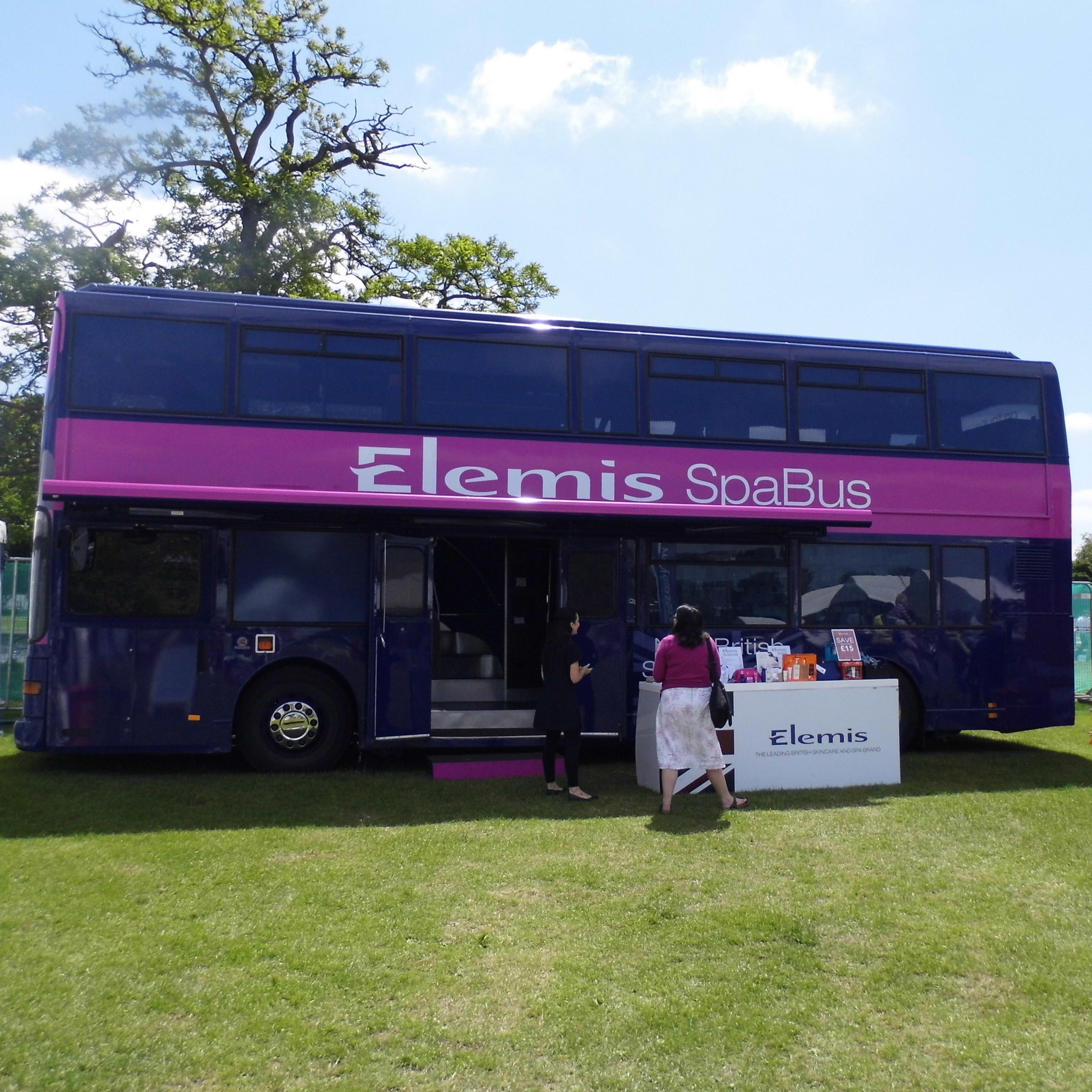 Clapham Common Foodies Fest Elemis Spa Bus