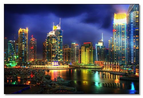 Dubai Marina From The Harbour Hotel, Dubai.