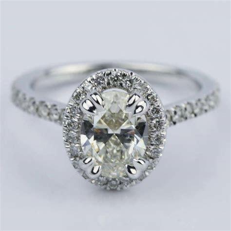 petite halo  carat oval cut diamond engagement ring
