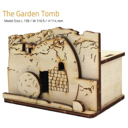 THE GARDEN TOMB | DIY Wood 3D Puzzle | Educational Self Assembly Craft | Made in the Holy Land