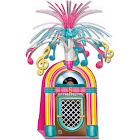 """Party Central 31564590 Club Pack of 12 Neon Pink, Yellow and Blue Jukebox with Tinsel Music Notes Centerpieces 15"""""""