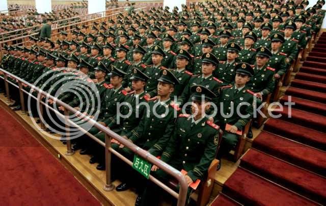 militaire de l'armee chinoise