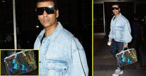 Karan Johar clicked with a Louis Vuitton color changing bag that costs over Rs 7 Lakh