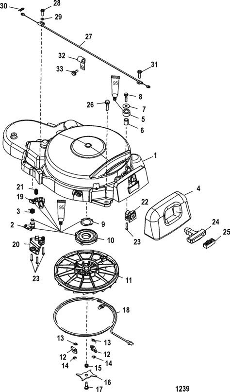 Mercury Marine 25 HP (4-Stroke) Recoil Starter Parts