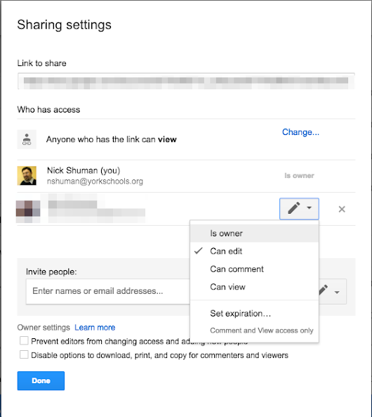 Adding Shared Items to Google Classroom Error
