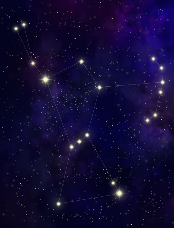 future constellations 50000 100000 stars map orion