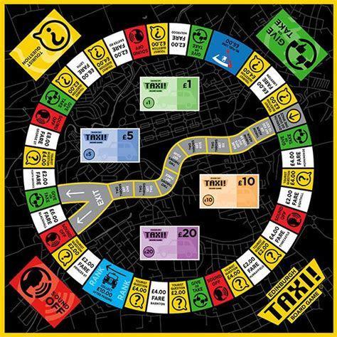 Edinburgh Taxi Board Game   Paper Tiger