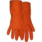 """Boss Gloves 4708x Extra Large 12"""" Orange Latex Lined Gloves"""