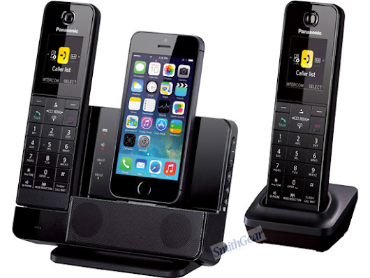 Panasonic KX-PRL262B Link2Cell Dock Style Bluetooth Cordless 2 HANDSETS