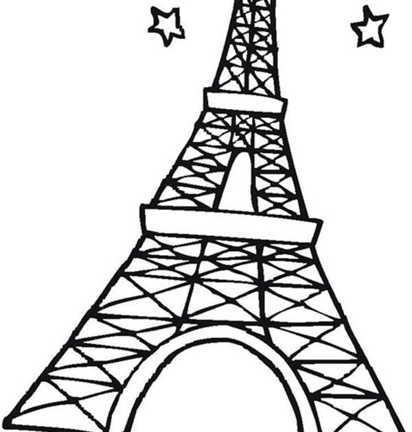 Paris eiffel tower coloring pages download and print for ...