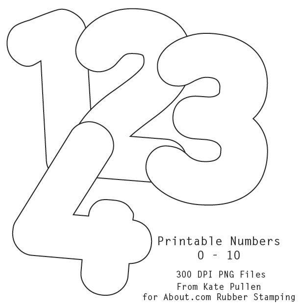 Number Stencils Set 1 | Stencils, Printable stencils and Number ...