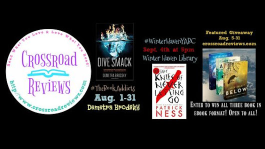 August Picks with @demetrabrodsky on #TheBookAddicts group @WinterHavenLib with @Patrick_Ness & Enter the Featured #Giveaway for @JChabotAuthor