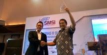 Auri Jaya, Ketum SMSI Pusat Bersama Menkominfo Rudiantara (Industry.co.id)