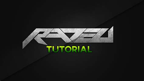 rated designs tutorial creating  basic text logo concept