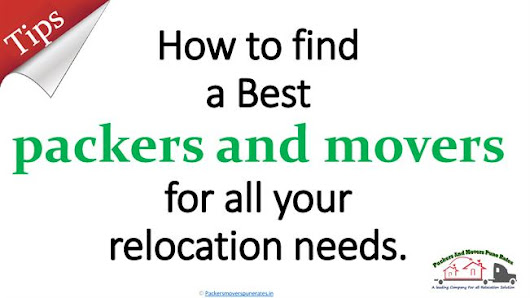 How to Find a Best Packers And Movers