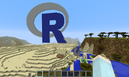 Teach kids about R with Minecraft