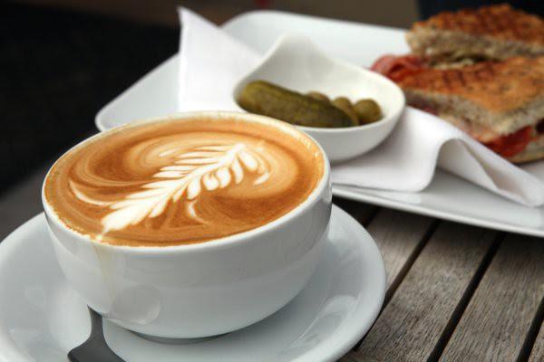 latte art, caffe rosso