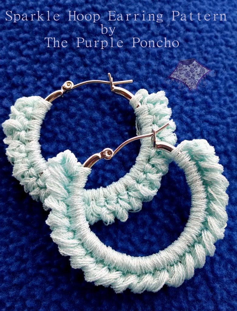 Sparkle Hoop Earring Pattern by The Purple Poncho June 2014