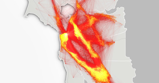 Animated Maps Illustrate the Hell of Bay Area Commuting