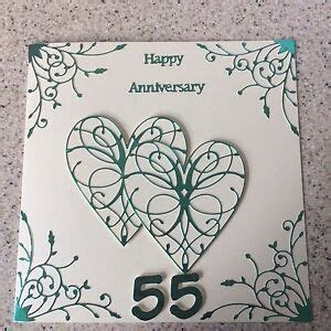 Handmade Emerald Wedding Anniversary card Happy 55th