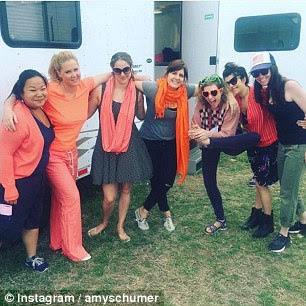 Supporting the cause: Ruby's orange-wearing efforts were mirrored by the likes of Amy Schumer