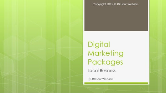 48 Hour Website Local Business Digital Marketing Packages