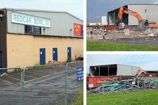 Bulldozers move in as demolition of Teesside's famous Redcar Bowl gets under way