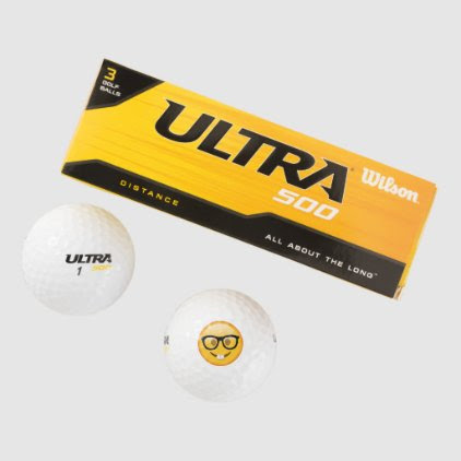 Nerd with Glasses - Emoji Golf Balls