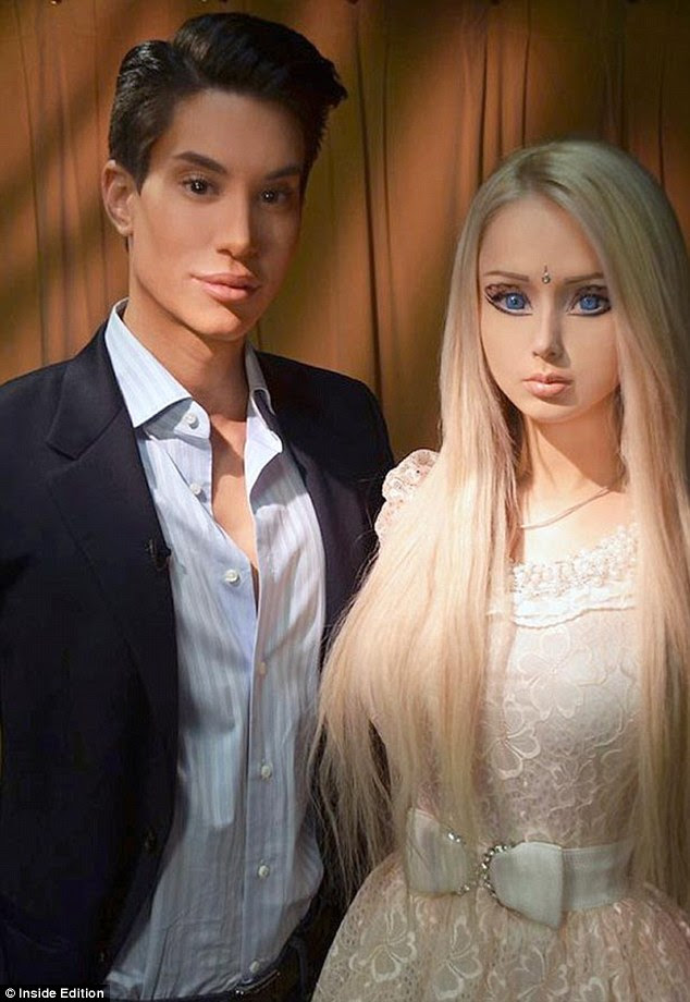 Too much in common? Real-life Barbie and Ken dolls, Valeria Lukyanova and Justin Jedlica came face-to-face for the first time, but they didn't hit it off