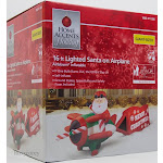 Gemmy G08 39602X Santa on Airplane with Sign Merry Christmas - Multicolor