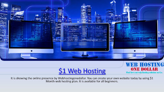$1 web hosting- for one month hosting plan Godaddy
