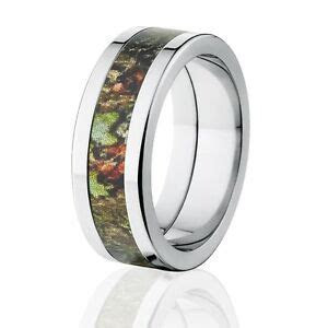 Flat Obsession Mossy Oak Camo Wedding Ring, Mossy Oak Camo