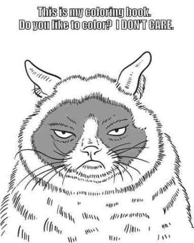 Grumpy Cat Coloring Sheet Grumpy Cat