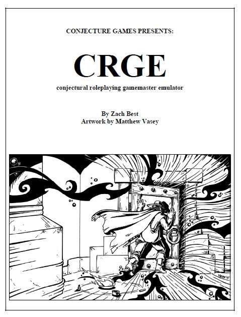 CRGE, Conjectural Roleplaying GM Emulator - Conjecture Games | DriveThruRPG.com