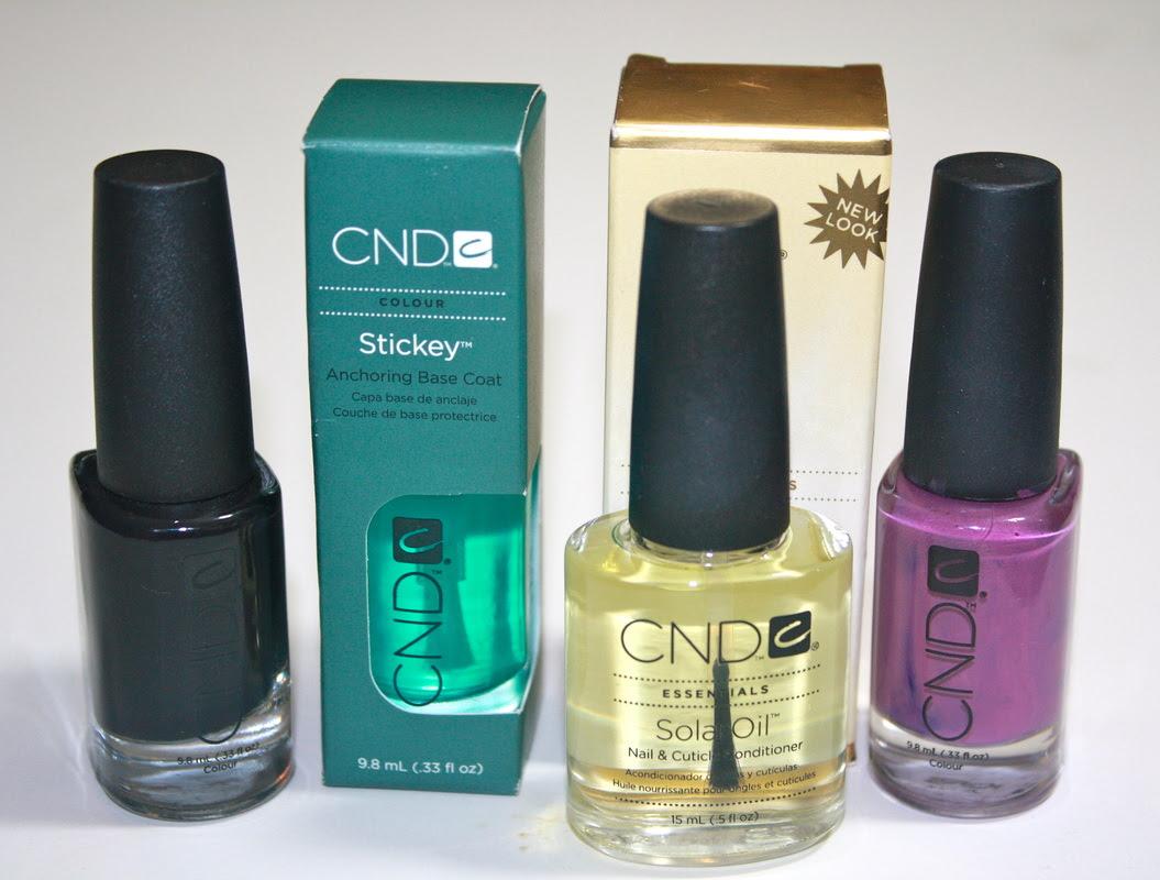 Cnd Nail Polish Stickey Base Coat Solaroil Beauty Marks The