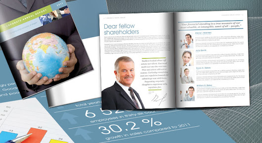 Free Annual Report Template in InDesign