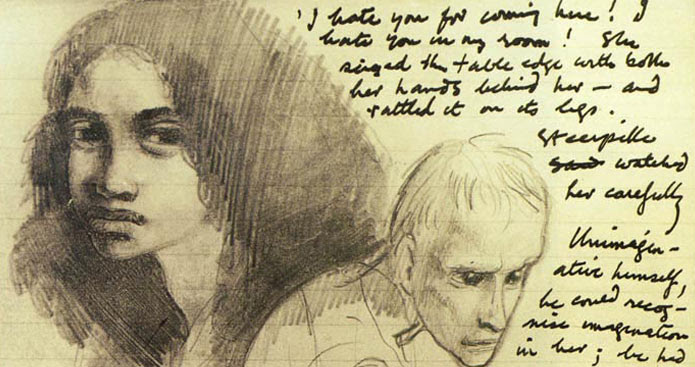 An illustration of Gormenghast