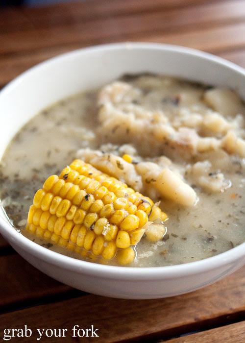 Ajiaco soup at Colombia Organik Sydney