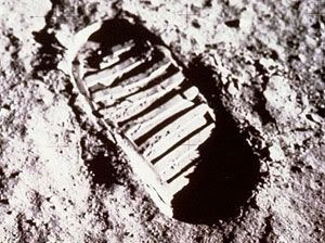 A footprint created by that 'one small step for man...'