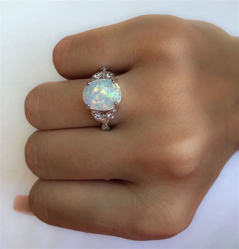 Pin by Leah Riegel on Mothers rings   Silver opal ring